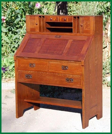 rare  original  jg stickley drop front desk circa
