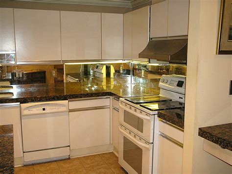 mirrored kitchen backsplash mirrored kitchen backsplashes