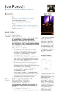 pastor resume template free ministry resume helps