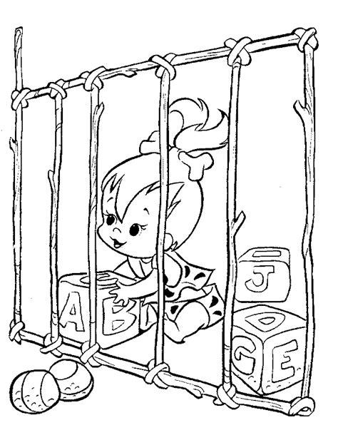 Kleurplaat Billy En Bambam by Kleurplaten En Zo 187 Kleurplaat Flintstones