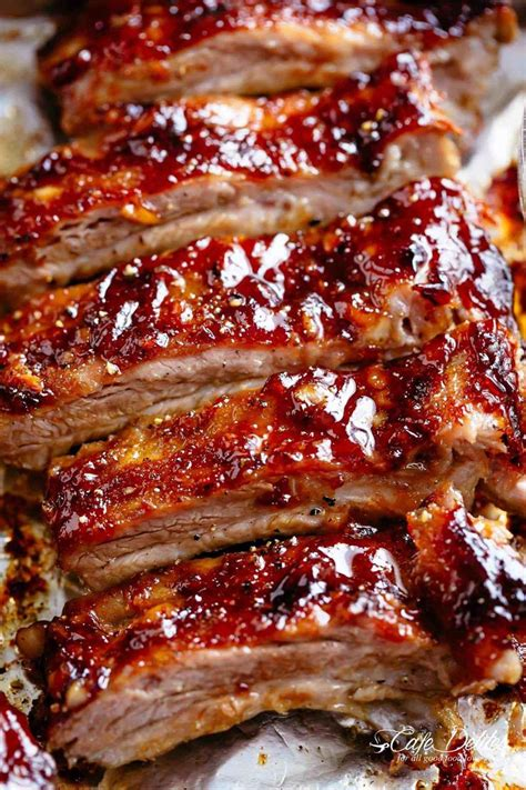american ribs oven baked  slathered