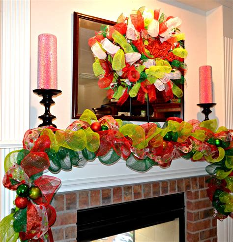 how to make mesh garland with lights christmas garlands christmas garland deco mesh garland