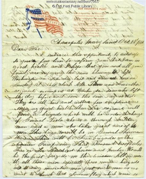 civil war letters american civil war union infantryman in c 12971