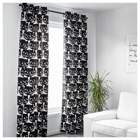 rideau blanc ikea mattram curtains 1 pair white black 145x250 cm ikea