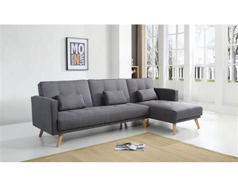 canape d angle convertible gris scandinave canapé d 39 angle réversible convertible gris