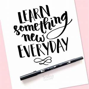 free brush lettering printable learn something new With brush lettering book