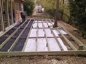 faire une terrasse en bois sur plot beton myqtocom With faire une terrasse en beton