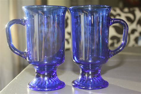 Explore a wide range of the best coffee glass mug on aliexpress to find one that suits you! Set of Two vintage Cobalt Blue Glass Irish Coffee mugs from