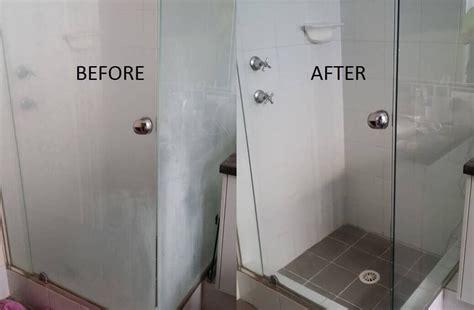 clean glass shower doors hard water