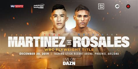 Martinez And Rosales Clash For World Crown In Phoenix ...