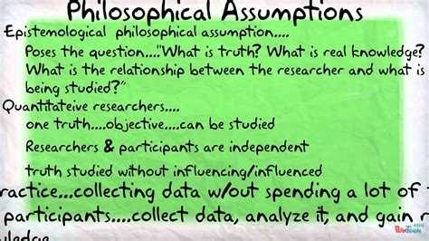 philosophical assumptions  worldviews youtube