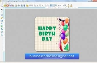 birthday card designing simple  easy  operate
