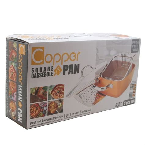 copper square casserole pan  pc set