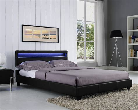 Led Light Headboard by King Size Bed Frame Led Headboard Light And