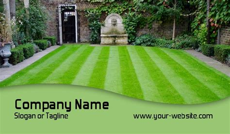 Landscaping Business Cards, Lawn Care Busines Cards