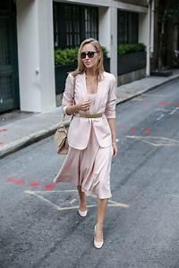 Blush Blazer Blush Midi Blush Pumps | MEMORANDUM | NYC Fashion u0026 Lifestyle Blog for the ...