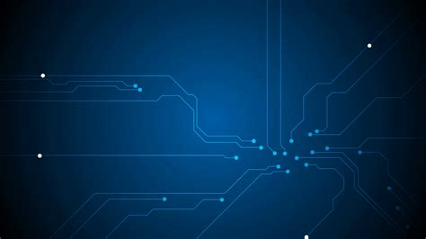 Animated Tech Wallpaper - blue tech circuit board technology animated background