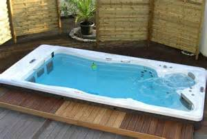 Deck Designs For Above Ground Pool by Aquatic Exercise At Home With The H2x Swim Spa