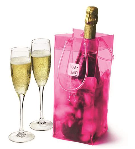icebag basic pink chills faster   traditional ice