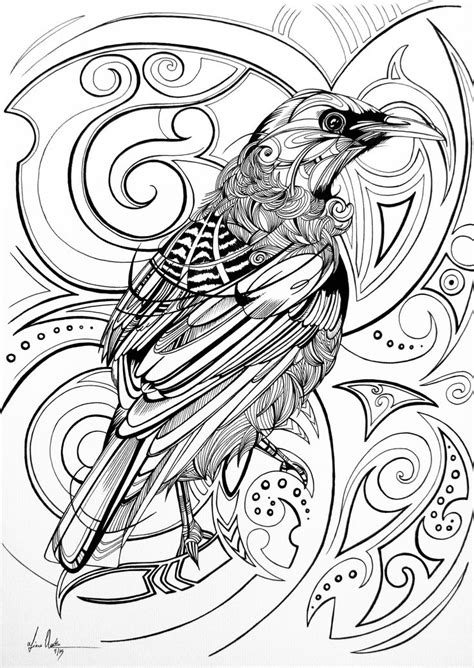 This piece was created for a limited edition adult colouring book by Warehouse Stationery called
