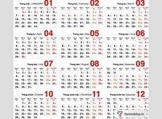 Vector Bộ số lịch âm dương năm 2019 #2