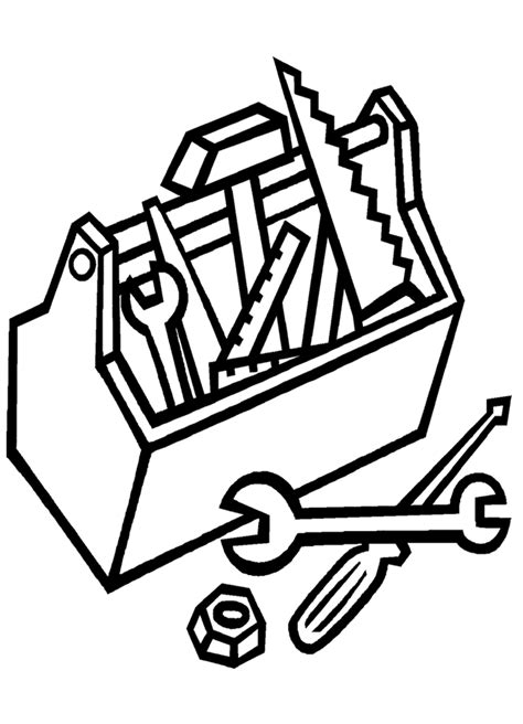 tool coloring page coloring home