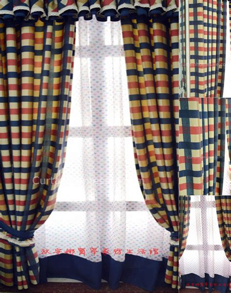 Plaid Curtains And Drapes - style striped and linen cottonand polyester plaid