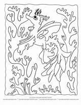 Coloring Sea Pages Kelp Dragon Printable Seaweed Sheets Creatures Cartoon Seahorse Under Leafy Ocean Seadragon Silhouette Wonderweirded Print Ll Getcolorings sketch template