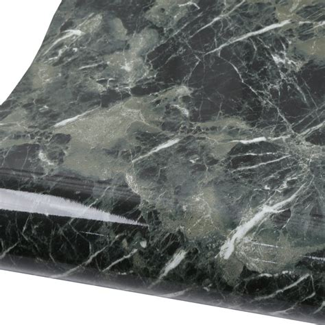 marble contact paper black green granite wallpaper