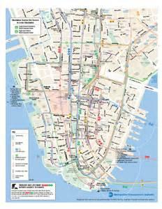 Manhattan Public Transportation Map