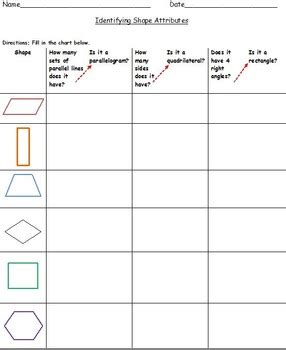 4th grade math worksheets quadrilaterals 4th grade classifying quadrilaterals common core worksheets tpt