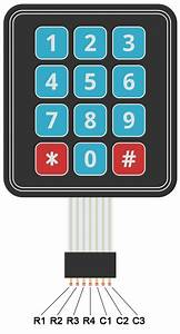 One Wire 3x4 Keypad