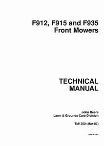 John Deere F912 F915 F935 Front Mowers Technical Manual