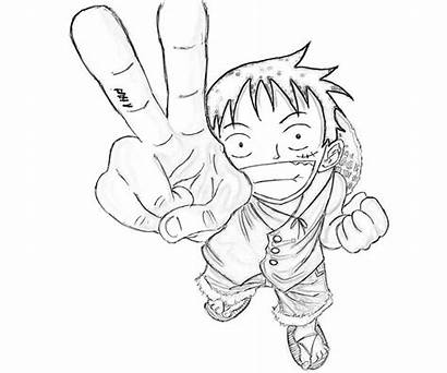 Luffy Piece Monkey Coloring Pages Character Printable