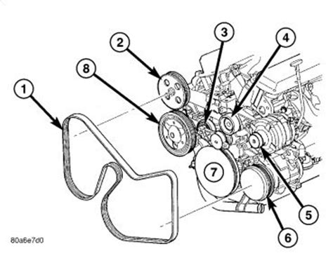 Chrysler Town Country Remove Belt Engine Cooling