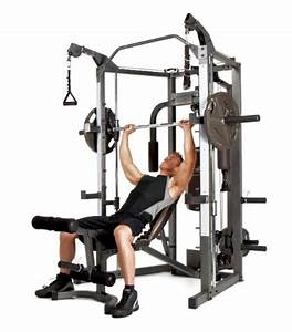 Marcy Smith Cage Machine with Workout Bench and Weight Bar ...