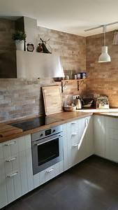 Küchen Ideen Landhaus : fliesen in maueroptik matt lasiert ikea k che hittarp mit massiver eichenarbeitsplatte ikea ~ Heinz-duthel.com Haus und Dekorationen