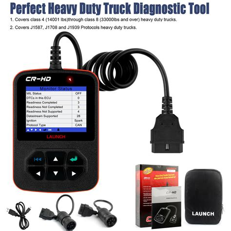 heavy duty truck cr hd code reader diagnostic scanner