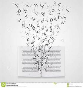 book with flying letters stock vector image 57862903 With letter art book