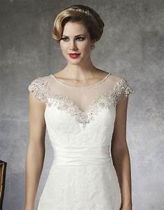 illusion neckline wedding dress sangmaestro With wedding dress necklines