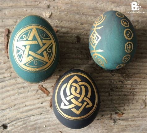 easter eggs  magic symbols colorful crafts