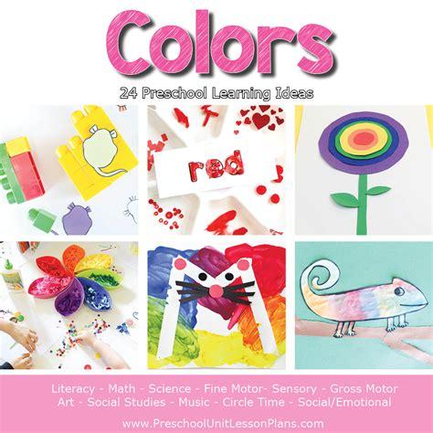 a year of preschool lesson plans bundle where 601 | Preschool Lesson Plans Colors Theme