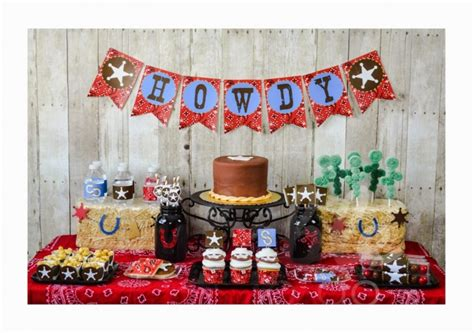 Cowboy And Cowgirl Baby Shower Ideas  Free Printable Baby