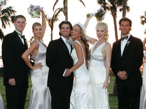 trump jr donald dresses weddings divorce marriage bridesmaid ivanka melania