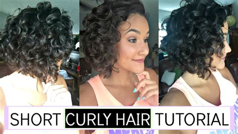 Simple Short Naturally Curly Hair Routine 2016