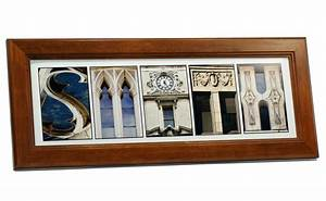 creative letter art personalized framed name sign with With framed name letter art