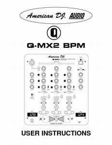 Q-mx2 Bpm Manuals