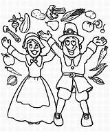 Coloring Thanksgiving Parade Joyful Pilgrim Canada Cheering Couple Indian Boy Turkey Wishbone Means Its Giving sketch template