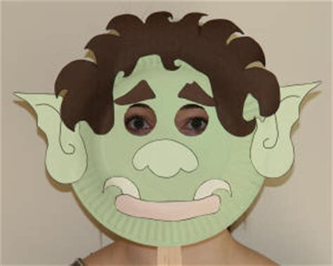 Trolls Nose Templates by Paper Plate Troll Craft