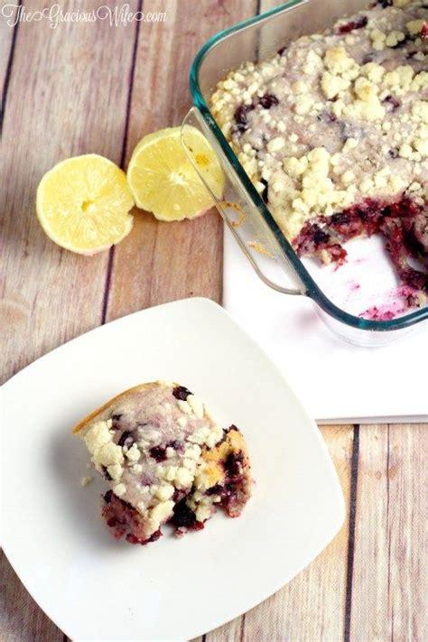 blueberry lemon coffee cake recipe  fresh blueberry